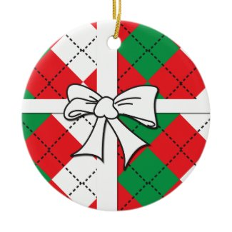 Christmas Argyle Ornament
