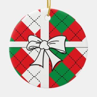 Christmas Argyle Ornament