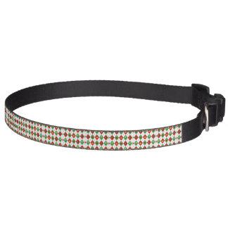 Christmas Argyle Pet Collar