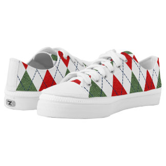 Christmas Argyle Sneakers
