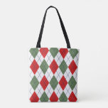 Christmas Argyle Tote Bag