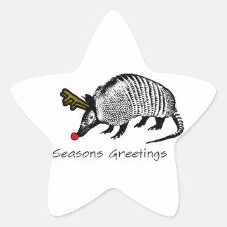 Christmas Armadillo Sticker