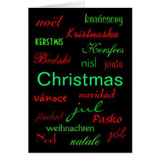 """Christmas Around The World"" Card Greeting Cards"