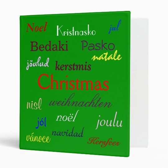 Christmas Around The World In Green Binder