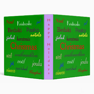 Christmas Around The World In Green III 3 Ring Binder