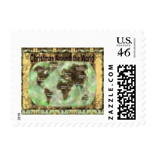 Christmas Around the World Postage Stamps