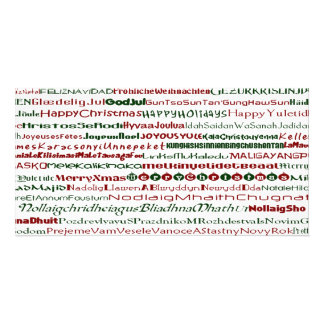 Christmas Around The World Text Design PhotoCard Photo Card