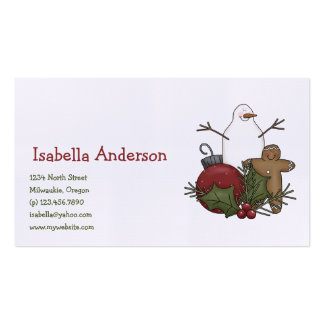 Christmas Arrangements · Gingerbread & Bauble Business Card