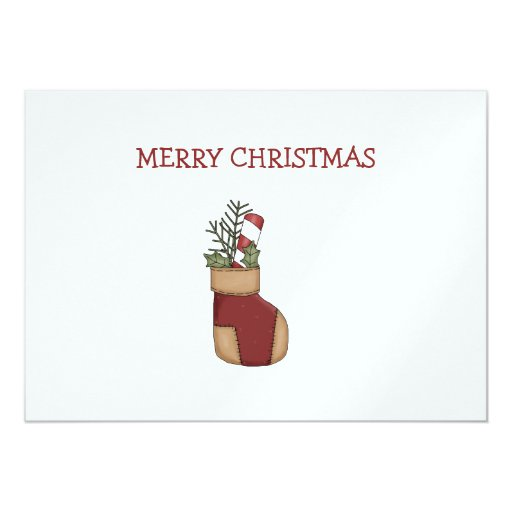 Christmas Arrangements · Stocking & Candy Cane Card