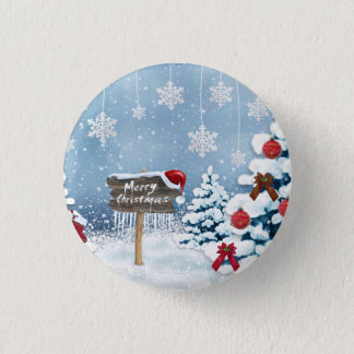 Christmas art - christmas illustrations button