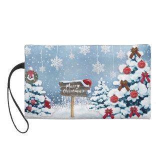 Christmas art - christmas illustrations wristlet purse