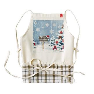 Christmas art - christmas illustrations zazzle HEART apron