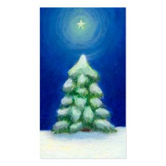 Christmas art holiday card tree snow December 25th Business Card