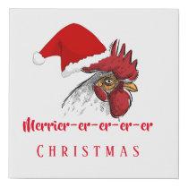 Christmas Art Merrier-er-er-er-er Christmas Faux Canvas Print