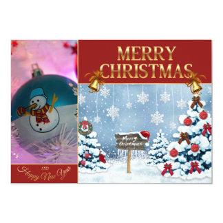 Christmas art - Snowman - christmas balls Card