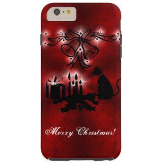 Christmas Artdeco with black Cat Tough iPhone 6 Plus Case