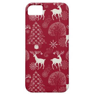 Christmas Artistic Pattern with Deers and Forest iPhone SE/5/5s Case