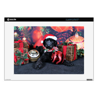 """Christmas - Asher - Poodle 15"""" Laptop Decal"""
