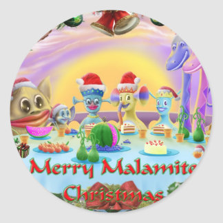 Christmas at Brimlest Palace Classic Round Sticker