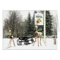 Christmas at Brookdale Fruit Farm in Hollis, NH Card