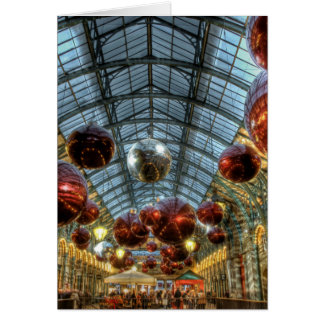 Christmas at Covent Garden, London Greeting Cards