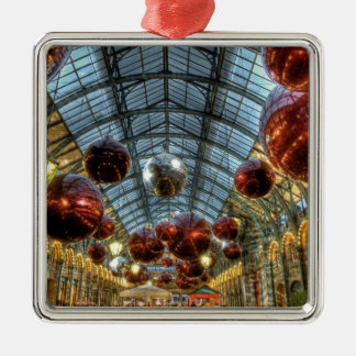 Christmas at Covent Garden, London Metal Ornament