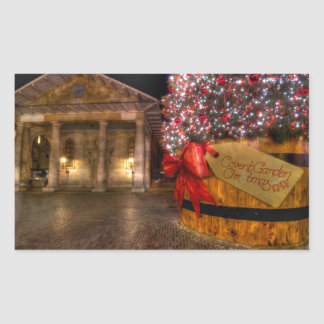 Christmas at Covent Garden, London Rectangular Sticker