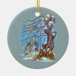 Christmas at Elf Hall Ceramic Ornament