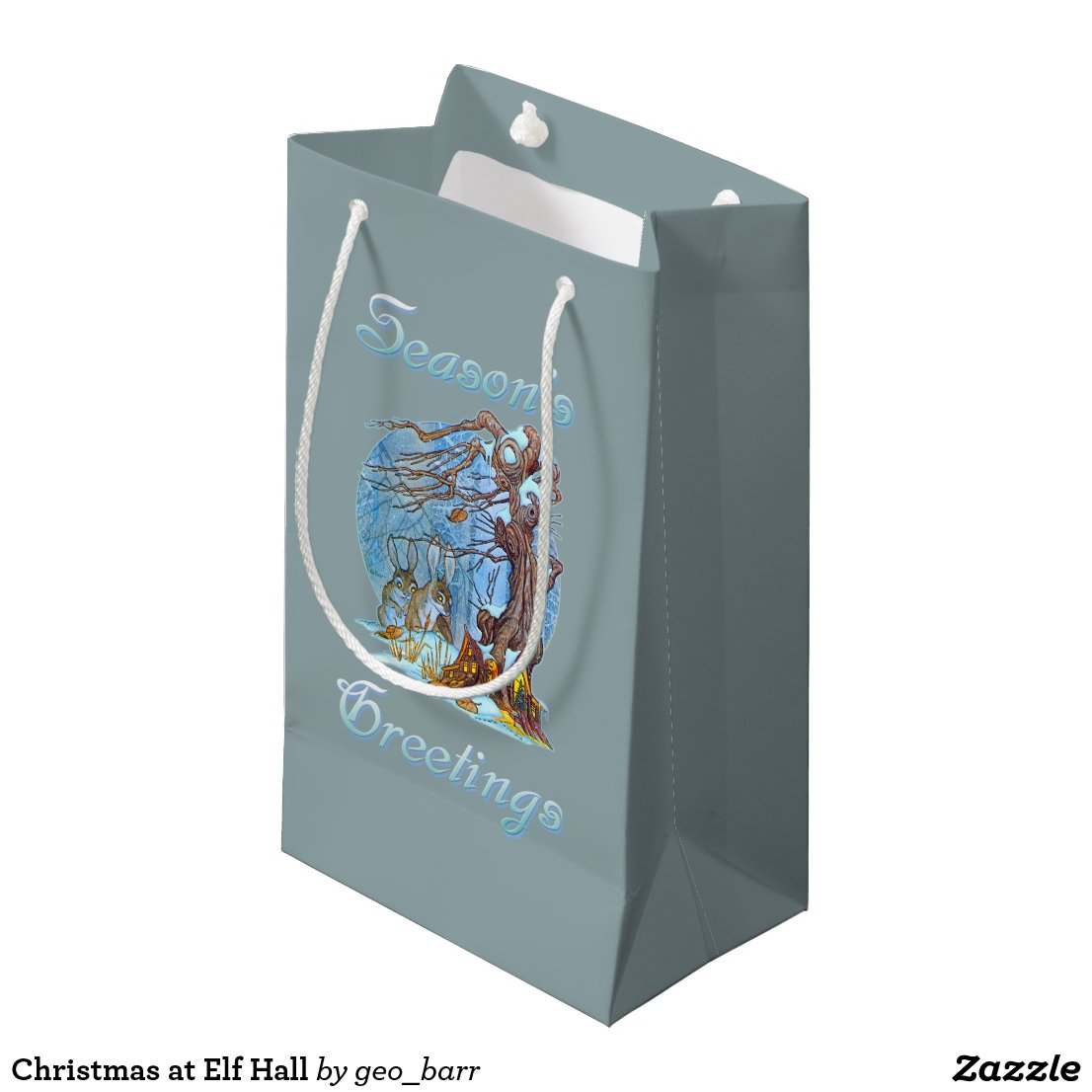 Christmas at Elf Hall Small Gift Bag