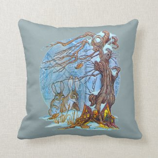 Christmas at Elf Hall Throw Pillow