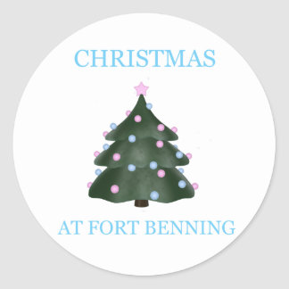 Christmas At Fort Benning 9 Classic Round Sticker