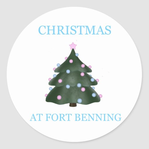 Christmas At Fort Benning 9 Round Stickers