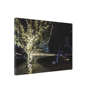 Christmas At Klyde Warren Park Canvas Print