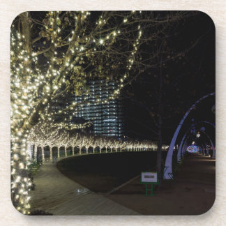 Christmas At Klyde Warren Park Drink Coaster