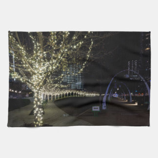 Christmas At Klyde Warren Park Kitchen Towel