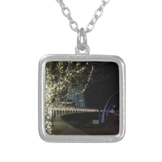 Christmas At Klyde Warren Park Silver Plated Necklace