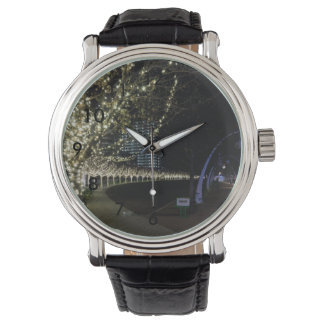 Christmas At Klyde Warren Park Wrist Watch