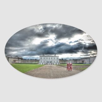 Christmas at Queen's House, Greenwich London Oval Sticker