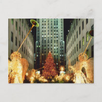 Christmas at Rockefeller Center Holiday Postcard