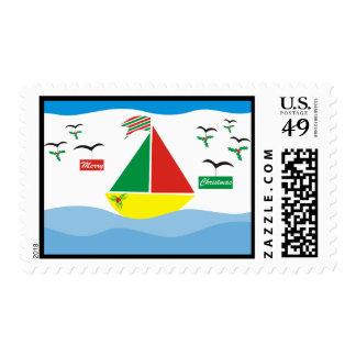 Christmas at sea stamp