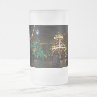 Christmas At Silver Dollar City Frosted Glass Beer Mug