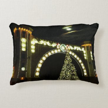 Beach Themed Christmas at the Band-shell Decorative Pillow
