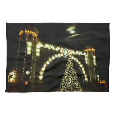 Beach Themed Christmas at the Band-shell Hand Towel