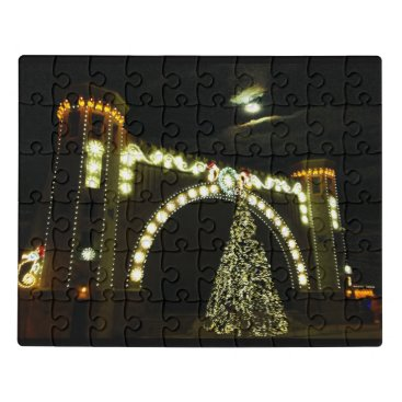 Beach Themed Christmas at the Band-shell Jigsaw Puzzle