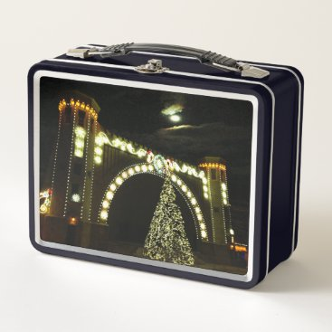 Beach Themed Christmas at the Band-shell Metal Lunch Box