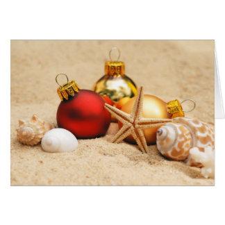 Christmas at the Beach Card