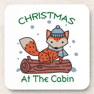 Christmas At The Cabin Coaster
