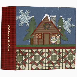 Christmas at the Cabin Lodge Scrapbook or Photo 3 Ring Binders