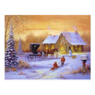 Christmas At the Cabin Postcard