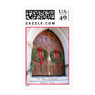 Christmas At The Cathedral Postage Stamp